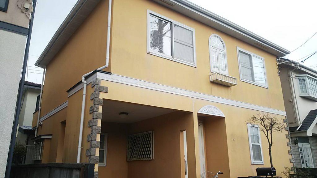 国立市外壁塗装 1日目
