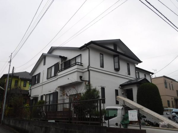 国立市K様 外壁屋根塗装 塀塗装