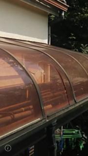 テラス屋根 波板、アクリル板の交換